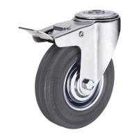 Колеса аппаратные поворотные под болт с тормозом