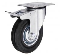 Колесо промышленное поворотное для тележки с тормозом