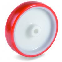 Колесо Tellure Rota 601104 под ось, диаметр 150мм, грузоподъемность 350кг, термопластичный полиуретан, полиамид
