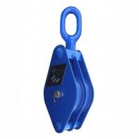 Блок двухрольный (для каната и веревки) TOR HQG(L) K2-1,0 т-0 (ушко)