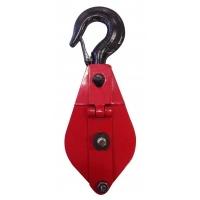 Блок однорольный (для каната и веревки) с крюком TOR HQG(L) K1-0,5 т