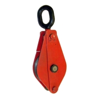 Блок однорольный (для каната и веревки) TOR HQG(L) K1-1,0 т-0 (ушко)