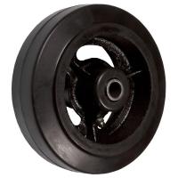 D 42 - Большегрузное чугунное колесо без крепления 100 мм (черн. рез., роликоподш.)