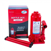 Домкрат гидрав.бутылочный 5 т в коробке (красный) (подъем 375мм) AV-074205 \
