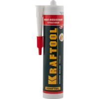Герметик силиконовый KRAFTOOL красный, температуростойкий (от -62 С до 275 С), 300мл
