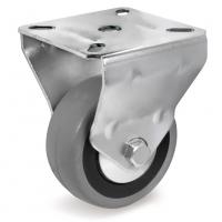 Колесо аппаратное Tellure Rota 375102 неповоротное, диаметр 60мм, грузоподъемность 50кг, серая резина, полипропилен