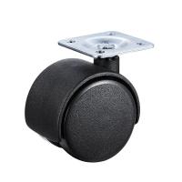 Колесо 40 мм поворотное черные пластик
