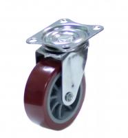 Колесо 40 мм поворотное красные пластик