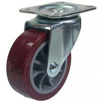 Колесо 50 мм поворотное красные пластик