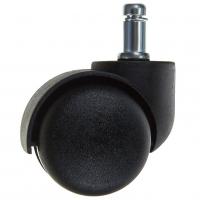 Колесо 50 мм штырь М 11 усиленное черный пластик