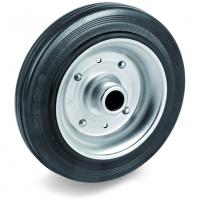 Колесо Tellure Rota 533108 под ось, диаметр 250мм, грузоподъемность 300кг, черная резина, сталь