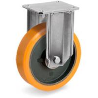 Колесо большегрузное Tellure Rota 648854 неповоротное, диаметр 150мм, грузоподъемность 700кг, полиуретан TR, чугун