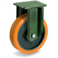 Колесо большегрузное Tellure Rota 648856 неповоротное, диаметр 200мм, грузоподъемность 1000кг, полиуретан TR, чугун