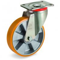Колесо Tellure Rota 657604 большегрузное поворотное, диаметр 150мм, грузоподъемность 600кг, полиуретан TR, алюминий