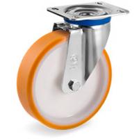 Колесо большегрузное Tellure Rota 665306 поворотное, диаметр 200мм, грузоподъемность 500кг, полиуретан TR, полиамид 6