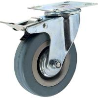 Колесо аппаратное поворотное с тормозом SCgb 42 (D 100)