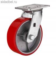 Колесо б/г полиуретан. поворот. 250мм (SCP85)