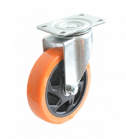 Колесо б/г полиуретан.поворот. PVC 75 мм (Medium)