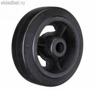 Колесо большегрузное на черной резине без опоры D 63