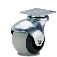 Колесо шарик оцинкованное 40 мм серая резина поворотное