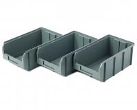 Пластиковый ящик Стелла-техник V-3-К3-серый , 342х207х143мм, комплект 3 штуки