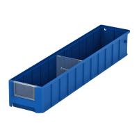 Контейнер полочный 600х117х90 синий