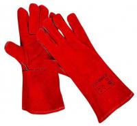 Краги Трек красные, утепленные, иск. белый мех, 35см, 60 пар в коробке