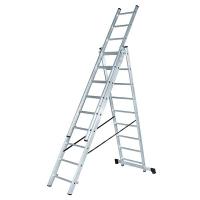 Лестница LWI 3х15 трехсекционная универсальная 15 ступеней