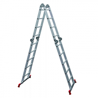 Лестница-трансформер LWI 2х4+2х5 шарнирная алюминевая