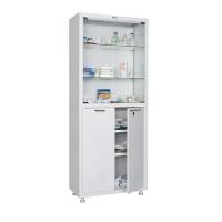 Медицинский шкаф двухстворчатый HILFE МД 2 1670/SG