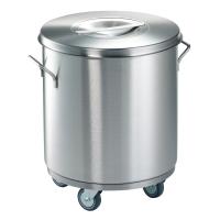 Мусорный бак с педалью для пищевых отходов на колесах NOXPIAVI 50 литров нерж. сталь