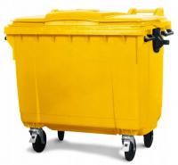 Мусорный контейнер на колёсах (1100 л) желтый