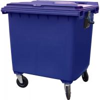 Мусорный контейнер на колёсах (1100 л) синий