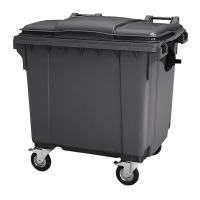 Мусорный контейнер на колёсах (1100 л) темно-серый