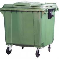 Мусорный контейнер на колёсах (1100 л) зеленый