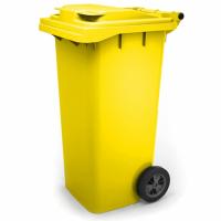 Мусорный контейнер на колёсах (120 л) желтый