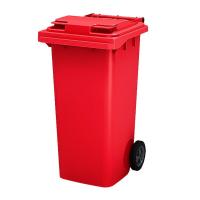Мусорный контейнер на колёсах (120 л) красный
