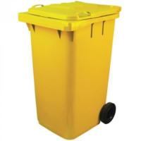 Мусорный контейнер на колёсах (240 л) желтый