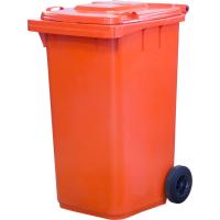 Мусорный контейнер на колёсах (240 л) оранжевый