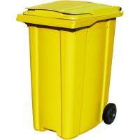Мусорный контейнер на колёсах (360 л) желтый