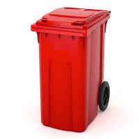 Мусорный контейнер на колёсах (360 л) красный