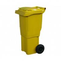 Мусорный контейнер на колёсах (60 л) желтый