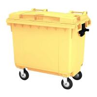 Мусорный контейнер на колёсах (660 л) желтый