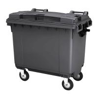 Мусорный контейнер на колёсах (660 л) серый