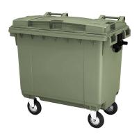 Мусорный контейнер на колёсах (660 л) зеленый