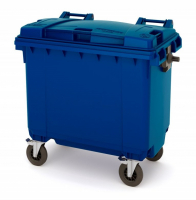 Мусорный контейнер на колёсах (770 л) синий