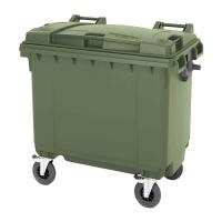 Мусорный контейнер на колёсах (770 л) зеленый