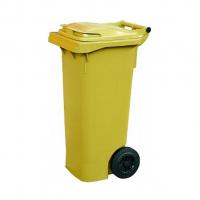 Мусорный контейнер на колёсах (80 л) желтый