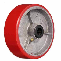 P 85 - Большегрузное полиуритановое колесо без крепления 250 мм (полиуритан., роликоподш.)