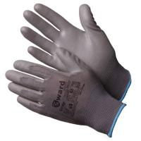 Перчатки нейлоновые с полиуритан покрытием (№9 серая)